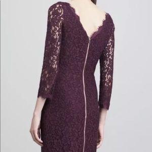 DVF Zarita lace purple Dress size 2